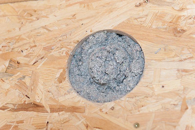 Celulosa insuflada en pared